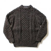 H. ROBINSON KNITTING H. ROBINSON KNITTING / Hand Knitted Cable P/O ハンドニットケーブル編みプルオーバー - Blackpool