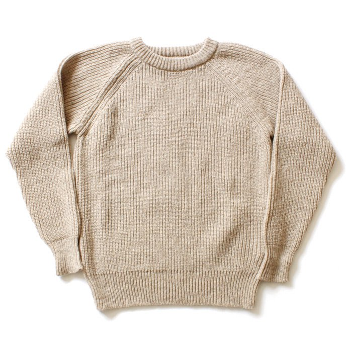 H. ROBINSON KNITTING H. ROBINSON KNITTING / Half Card. Stitch P/O 機械編みプルオーバー - Oatmeal 01