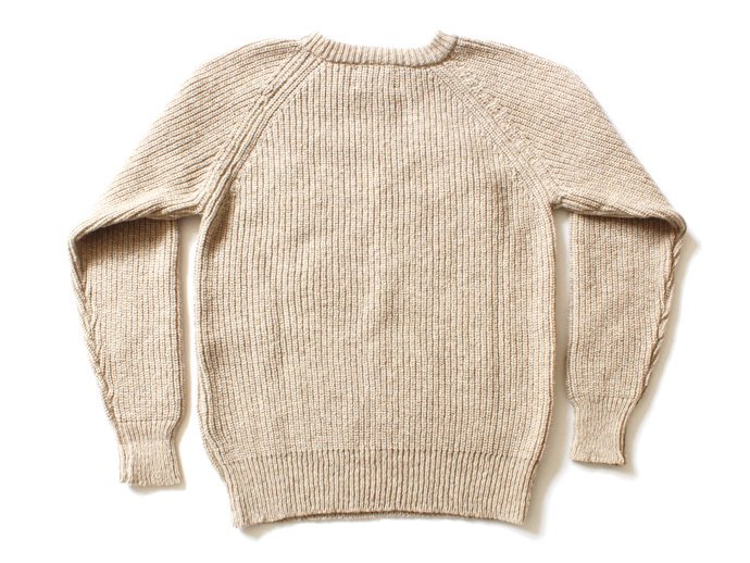 H. ROBINSON KNITTING H. ROBINSON KNITTING / Half Card. Stitch P/O 機械編みプルオーバー - Oatmeal 02