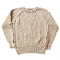 H. ROBINSON KNITTING / Half Card. Stitch P/O 機械編みプルオーバー - Oatmeal
