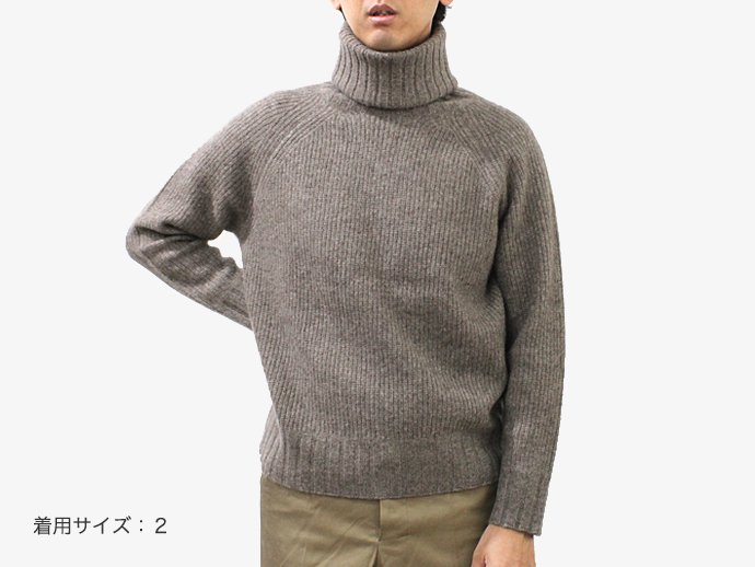 95366954 smoothday / ユニセックス ヤクニット ハイネックプルオーバーセーター - モカ 1510K001-043 #1<img class='new_mark_img2' src='//img.shop-pro.jp/img/new/icons47.gif' style='border:none;display:inline;margin:0px;padding:0px;width:auto;' /> 02