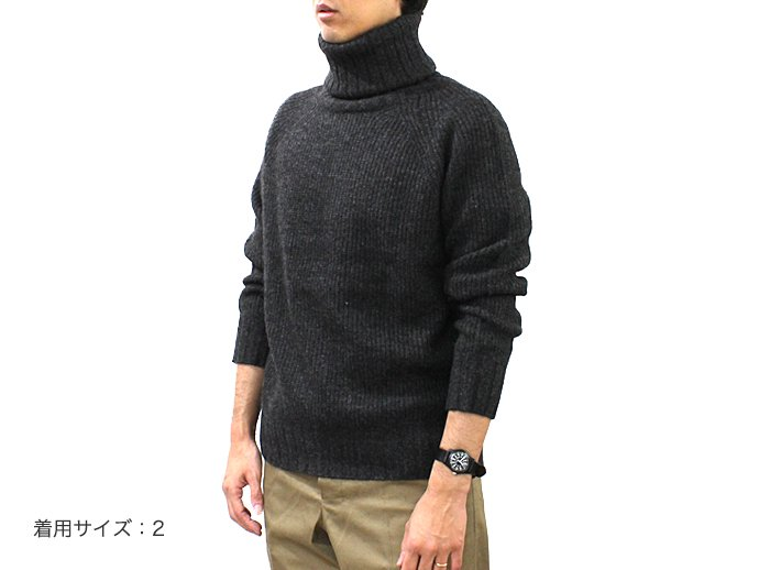 95367165 smoothday / ユニセックス ヤクニット ハイネックプルオーバーセーター - チャコール 1510K001-043 #3<img class='new_mark_img2' src='//img.shop-pro.jp/img/new/icons47.gif' style='border:none;display:inline;margin:0px;padding:0px;width:auto;' /> 02