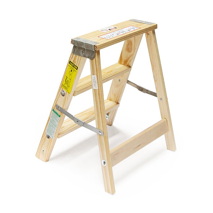 Other Brands Michigan Ladder Company / Wood Step Ladder ウッドステップラダー - Size 2 02