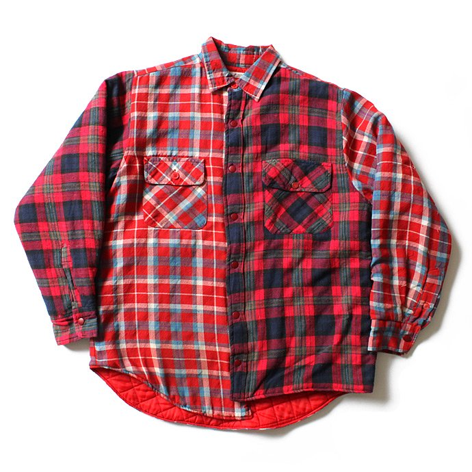 Hexico Hexico / Deformer Quilt Lined Flannel Shirt リメイクキルティングネルシャツ 01 M 01