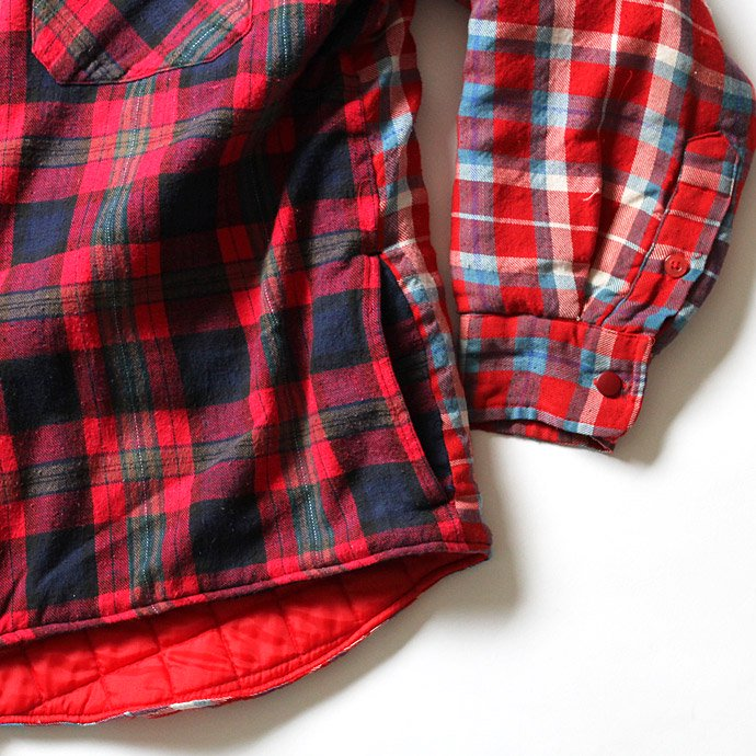 Hexico Hexico / Deformer Quilt Lined Flannel Shirt リメイクキルティングネルシャツ 01 M 02