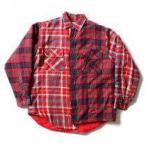 Hexico Hexico / Deformer Quilt Lined Flannel Shirt リメイクキルティングネルシャツ 01 M