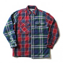Hexico Hexico / Deformer Quilt Lined Flannel Shirt リメイクキルティングネルシャツ 02 L<img class='new_mark_img2' src='//img.shop-pro.jp/img/new/icons47.gif' style='border:none;display:inline;margin:0px;padding:0px;width:auto;' />