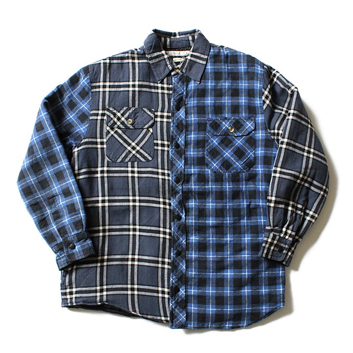 99127639 Hexico / Deformer Quilt Lined Flannel Shirt リメイクキルティングネルシャツ 03 L<img class='new_mark_img2' src='//img.shop-pro.jp/img/new/icons47.gif' style='border:none;display:inline;margin:0px;padding:0px;width:auto;' /> 01
