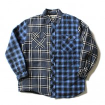Hexico Hexico / Deformer Quilt Lined Flannel Shirt リメイクキルティングネルシャツ 03 L<img class='new_mark_img2' src='//img.shop-pro.jp/img/new/icons47.gif' style='border:none;display:inline;margin:0px;padding:0px;width:auto;' />