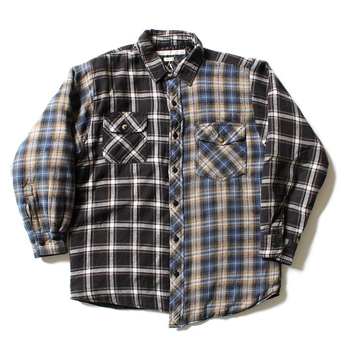 Hexico Hexico / Deformer Quilt Lined Flannel Shirt リメイクキルティングネルシャツ 04 M 01