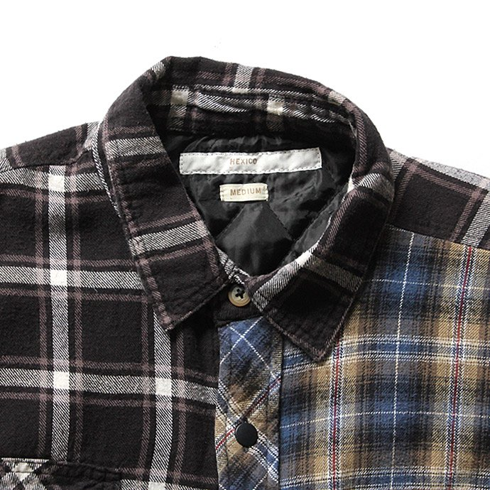 Hexico Hexico / Deformer Quilt Lined Flannel Shirt リメイクキルティングネルシャツ 04 M 02