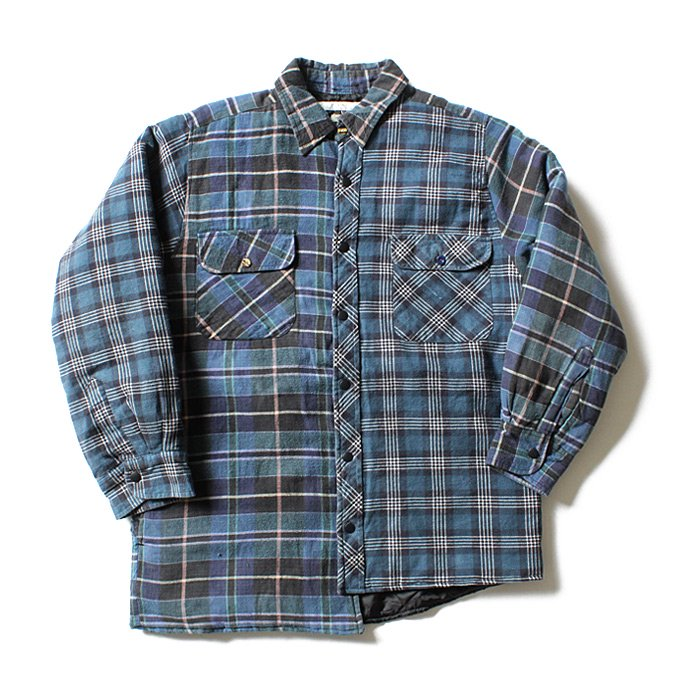 Hexico Hexico / Deformer Quilt Lined Flannel Shirt リメイクキルティングネルシャツ 05 M 01