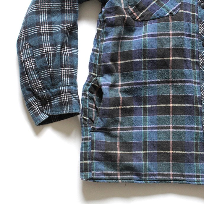Hexico Hexico / Deformer Quilt Lined Flannel Shirt リメイクキルティングネルシャツ 05 M 02