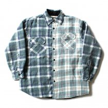 Hexico Hexico / Deformer Quilt Lined Flannel Shirt リメイクキルティングネルシャツ 06 M