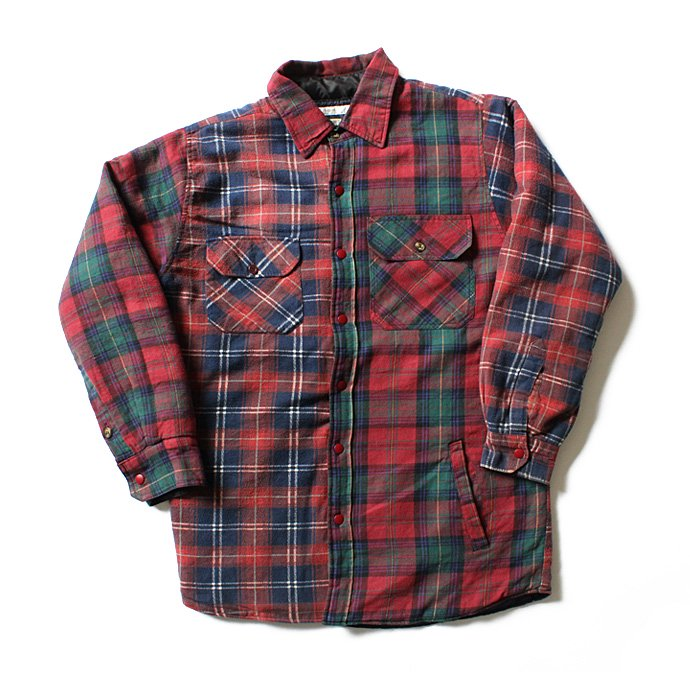 Hexico Hexico / Deformer Quilt Lined Flannel Shirt リメイクキルティングネルシャツ 07 L 01