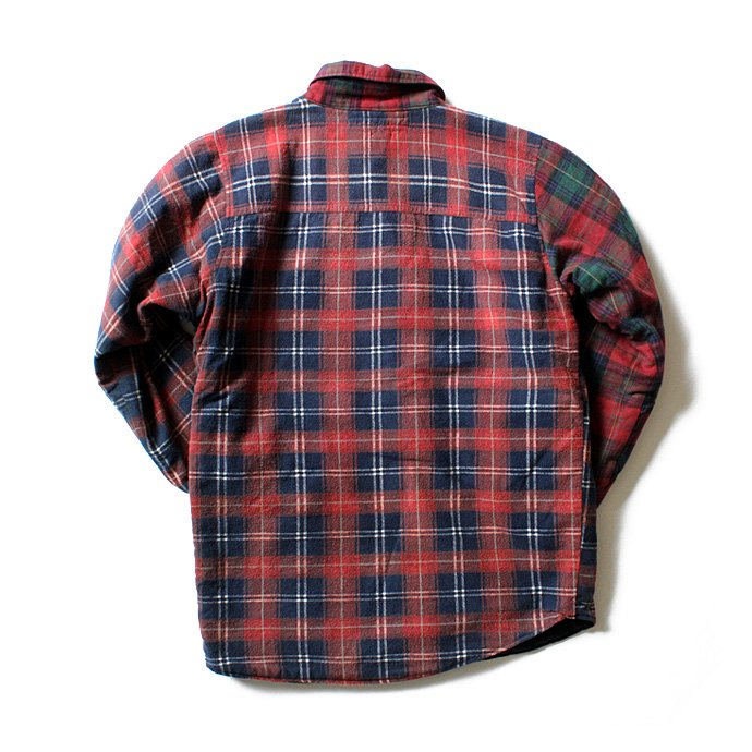 Hexico Hexico / Deformer Quilt Lined Flannel Shirt リメイクキルティングネルシャツ 07 L 02
