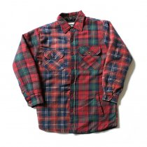 Hexico Hexico / Deformer Quilt Lined Flannel Shirt リメイクキルティングネルシャツ 07 L