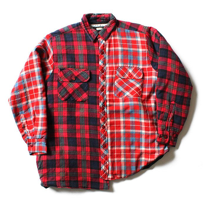 Hexico Hexico / Deformer Quilt Lined Flannel Shirt リメイクキルティングネルシャツ 08 L<img class='new_mark_img2' src='//img.shop-pro.jp/img/new/icons47.gif' style='border:none;display:inline;margin:0px;padding:0px;width:auto;' /> 01