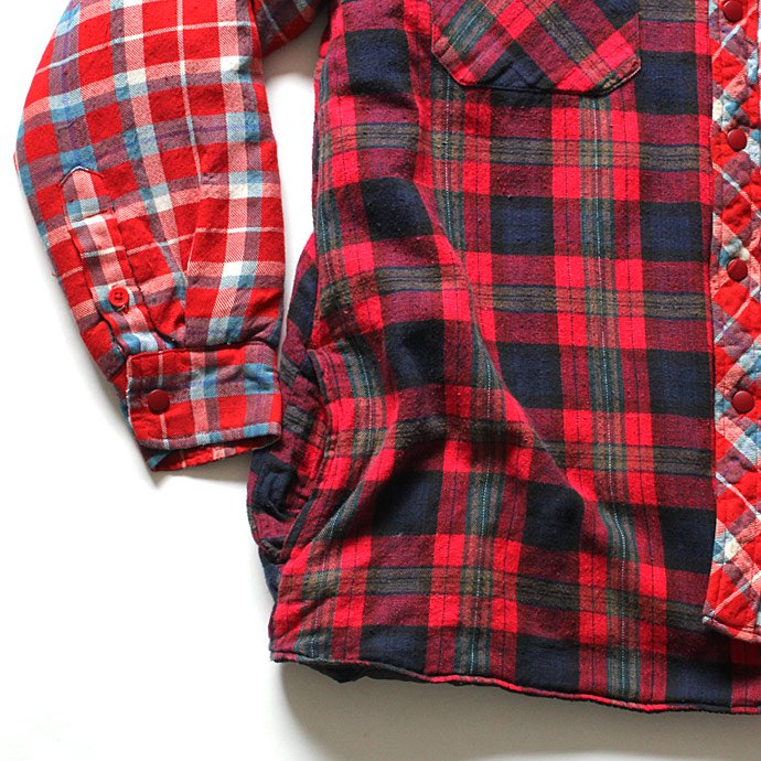 Hexico Hexico / Deformer Quilt Lined Flannel Shirt リメイクキルティングネルシャツ 08 L<img class='new_mark_img2' src='//img.shop-pro.jp/img/new/icons47.gif' style='border:none;display:inline;margin:0px;padding:0px;width:auto;' /> 02