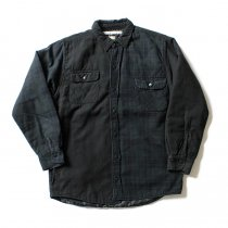 Hexico Hexico / Deformer Quilt Lined Flannel Shirt - Overdye リメイクキルティングネルシャツ オーバーダイ02 M<img class='new_mark_img2' src='//img.shop-pro.jp/img/new/icons47.gif' style='border:none;display:inline;margin:0px;padding:0px;width:auto;' />