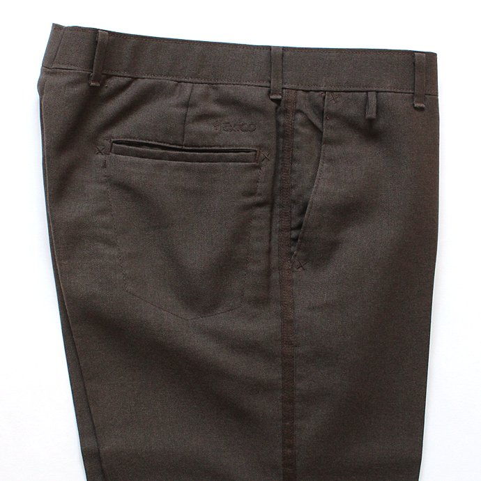 Hexico Deformer Pants Line Quarter Slim Ex. U.S. Action Slacks - Brown リメイク アクションスラックス ライン入り ブラウン<img class='new_mark_img2' src='//img.shop-pro.jp/img/new/icons47.gif' style='border:none;display:inline;margin:0px;padding:0px;width:auto;' /> 02