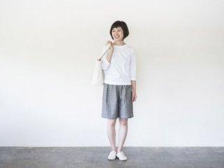 ショートパンツ  久留米絣 グレードット