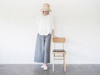 ロングパンツ  久留米絣 グレードット