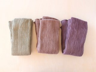 シルクとコットン/オーガニックコットンの二重織りレッグウォーマー ロング