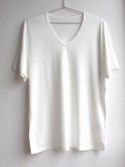 竹布 Men's半袖VネックTシャツ