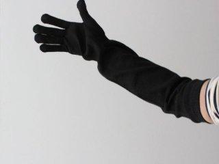 在庫限り)ライブコットン シルク100%のロング手袋