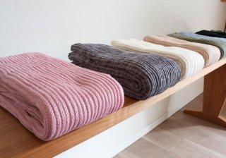 旧作:シルクとコットン/オーガニックコットンの二重織りレッグウォーマー ロング