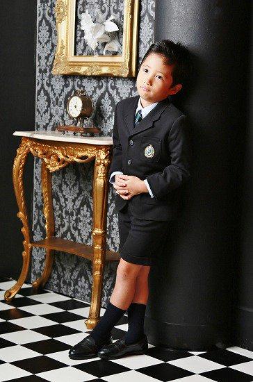 【レンタル】No441男の子フォーマル黒スーツ2点セット