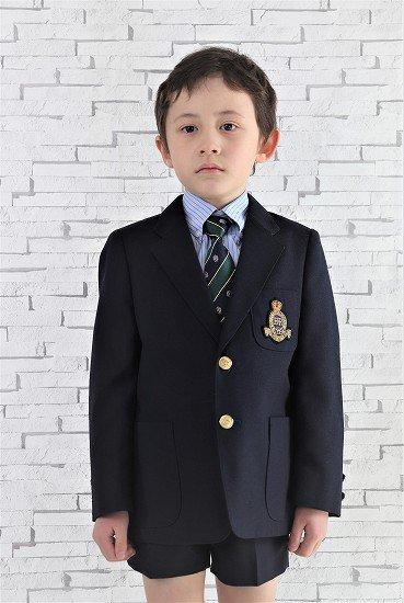 【レンタル】No445男の子フォーマル紺スーツ4点セット