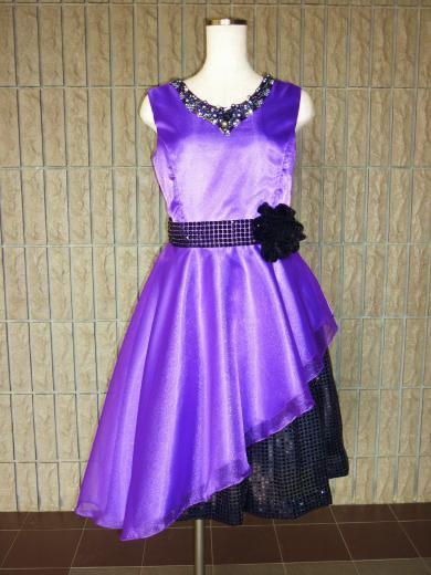 セクシーな紫色ドレス【オーダーのみ】