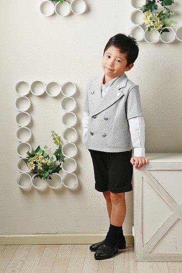【レンタル】No439 子供用半袖グレージャケット110cm