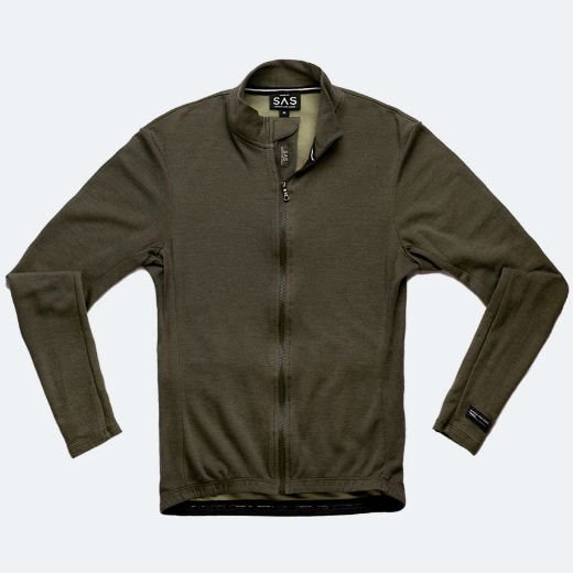 Search and State * Long Sleeve Merino Jersey * Surplus Green