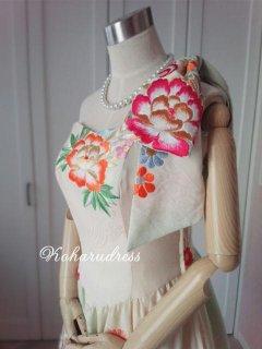 セミオーダー/ミモレ丈ハートカットプリンセスドレス(肩リボンつき)仮縫い込み