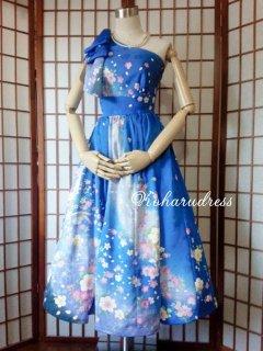 セミオーダー/ミモレ丈ワンショルダープリンセスドレス(肩リボンつき)仮縫い込み