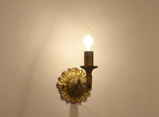 ウォールランプブラケット灯具キャンドルアンティークゴールド