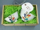 九谷青窯 色絵遊び葉 飯碗 ギフトセット