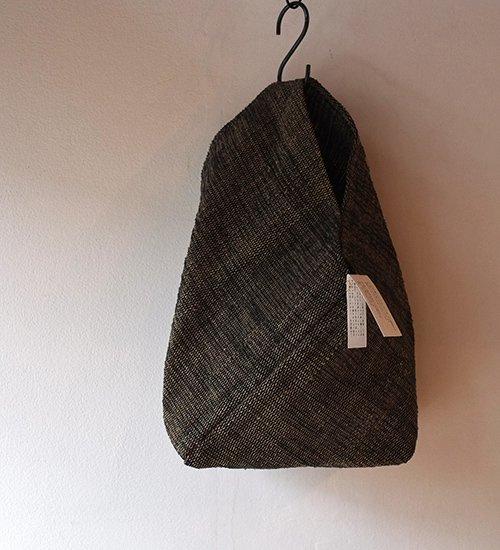 エフスタイル-シナの裂き織ねじり袋 (黒)