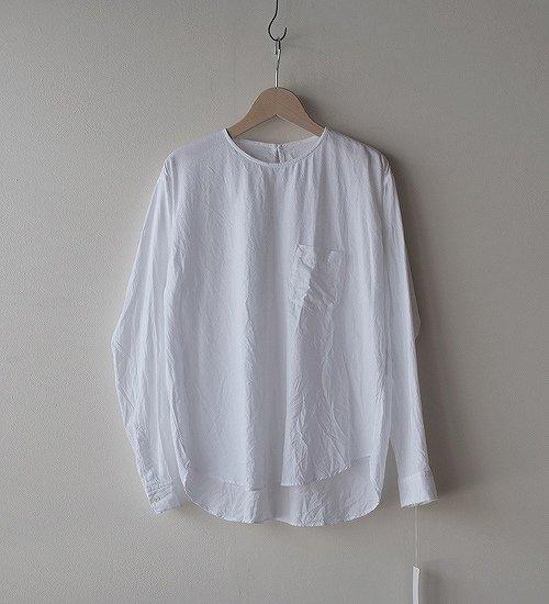 ゴーシュ-50/1 オーガニックツイル P/Oシャツ ホワイト
