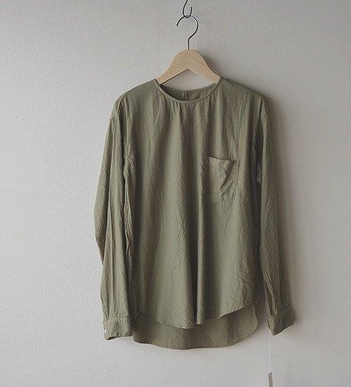 ゴーシュ-50/1 オーガニックツイル P/Oシャツ カーキ