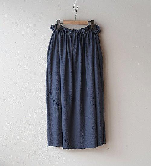 ゴーシュ-50/1 オーガニックツイル スカート グレイッシュブルー