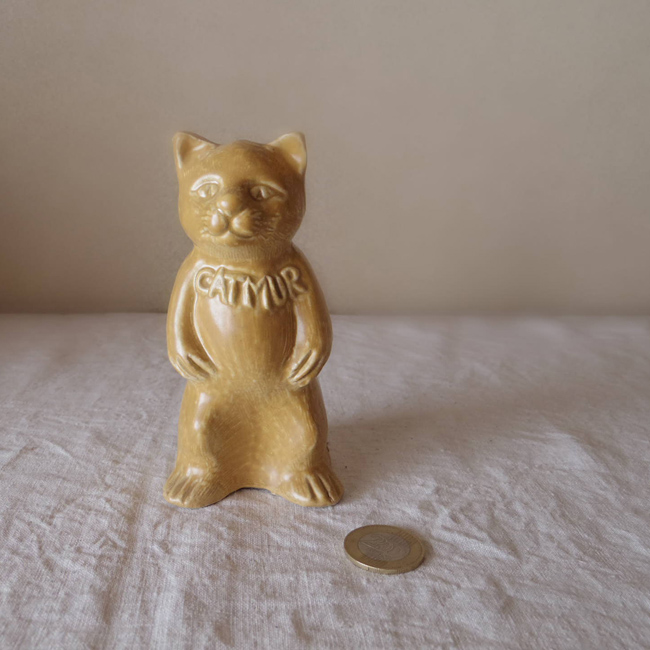 ベルギー 猫 貯金箱 bergium porcelain pottery hotel beau-site catmur cat piggy bank