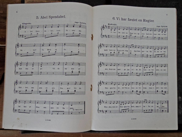 デンマーク 童謡  楽譜 1926年 Denmark vintage children songs score Ti Bornesange