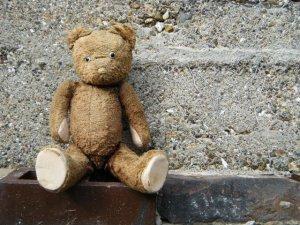 ハンガリー ビンテージ テディベアー ブラウン グロウラー hungary antique teddy bear old vintage growler