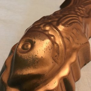 ポルトガル TAGUS社 銅焼き菓子型 魚 大・Copper Mold Mould Tagus Portugal fish big