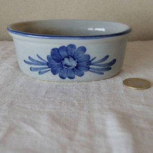 デンマーク インディゴ色 ミニグラタン皿 1  denmark indigo small baking dish