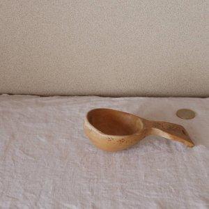 スウェーデン 古い 木のスプーン 持ち手 大きめ sweden wood spoon scoop